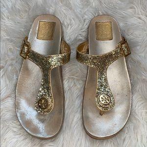 Tory Burch Glitter Thong Sandals